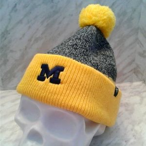 Michigan Wolverines '47 Pom Cuffed Knit Hat beanie